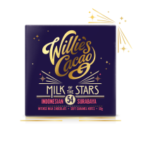 Čokoláda Willie's Cacao mliečna MILK OF THE STARS, Indonesian Surubaya 54%, 50g
